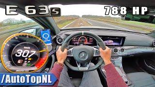 788HP Mercedes AMG E63 S 307km/h AUTOBAHN POV TOP SPEED by AutoTopNL