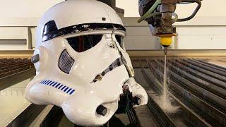 Bulletproof Stormtrooper Helmet vs 60,000 psi Waterjet | 3D Printed Stormtrooper Suit