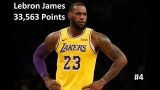 Top 10 All Time Scoring Leaders in NBA Basketball History With Images and Scoring Totals!