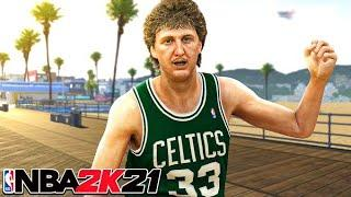 LARRY BIRD BUILD GREENS FROM HALF-COURT in NBA 2K21