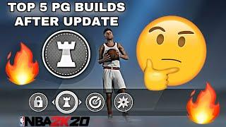 THE TOP 5 POINT GUARD BUILDS IN NBA 2K20 AFTER THE NEW PATCH!