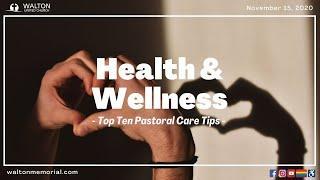 Virtual Service - November 15, 2020 - Health and Wellness Sunday