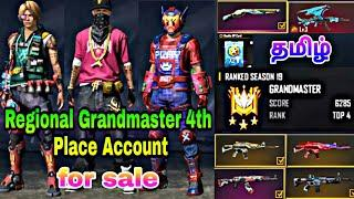 Region 4th Place Grandmaster Account | 2nd Elite | 32 RP Card | Free Fire Account For Sale - தமிழ்