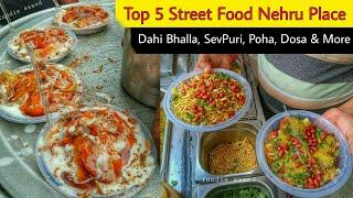 Top 5 Street Food Nehru Place || Delhi Street Food Compilation