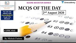 2nd August 2020 Top 10 MCQs for Prelims 2020/21