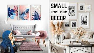 TOP 10 SMALL LIVING ROOM DECOR TIPS | INTERIOR DESIGN