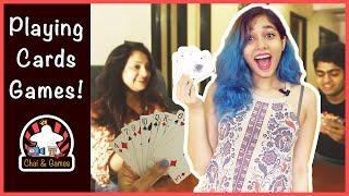 Top 5 Playing Cards Games (HINDI) | Family & Solo Playing Cards Games | How to Play //Chai And Games