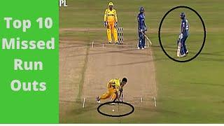 Top 10 Funniest Missed Run Outs in Cricket History - Funny Moments