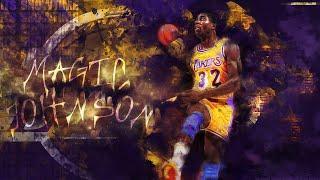 MAGIC JOHNSON (Earvin Johnson) - Top 10 NBA Player of All Time (NBA LEGENDS)