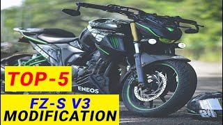 TOP-5 Yamaha FZ-S V3 Modification || Right Side Video || Yamaha FZ-S V3