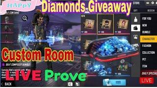 FREE FIRE LIVE GAMEPLAY  MYSTERY SHOP 7.0  SPECIAL  GIVEEAY , Giveway diamond top up livestrem ,
