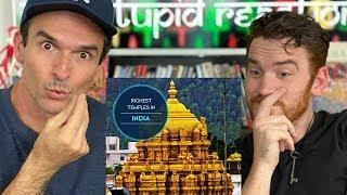 Top 10 Richest Temples in India American REACTION!