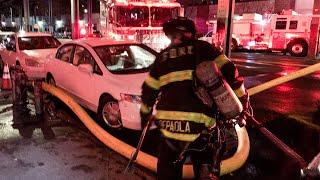 [ Bronx 10-75 Box 2994 ] Fire in the Autobody shop, Car Blocks Fire Hydrant