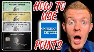 AMEX POINTS 101: How To Use Amex Membership Rewards Points (How To Redeem Amex Points For Travel)