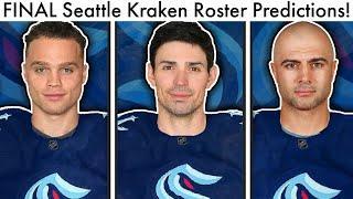 FINAL Seattle Kraken Expansion Draft Predictions + MOCK TRADES! (NHL Draft Carey Price Picks/Rumors)