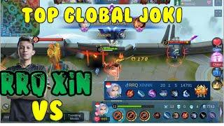 RRQ XIN VS Top Global Joki Ling Super FAst Hand Show Mobile Legend 2020