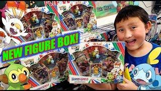 OUR FAVORITE NEW POKEMON CARDS BOX! NEW SWORD AND SHIELD STARTERS FIGURE COLLECTION BOX OPENING!