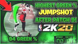 HIGHEST GREEN Percentage Jumpshot in NBA 2k20! | Best Greenlight Jumpshot After Patch 9!