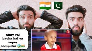 Pakistani Reacting on Super Brain Amazingly Awsome Memorizing Power of 5 year Old indian Kid
