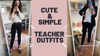 Simple, yet chique teacher outfits | Back to School, Work outfits