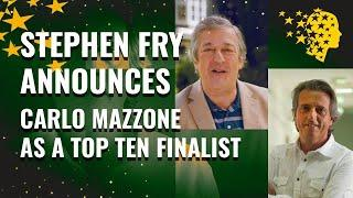 Stephen Fry Announces Italian teacher Carlo Mazzone As A Top 10 Finalist | Global Teacher Prize 2020