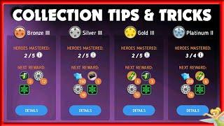 EASY COLLECTION LEVEL UP | TOP TIPS & TRICKS | Disney Heroes Battle Mode