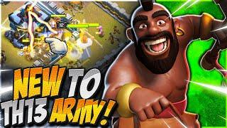 Low Level Heroes? No Problem! New to TH13 Hybrid Attack Strategy! (Clash of Clans)