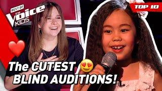TOP 10 | The CUTEST Blind Auditions in The Voice Kids
