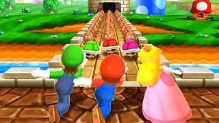 Mario Party The Top 100 MiniGames - Mario Vs Luigi Vs Waluigi Vs Peach (Master Difficulty)