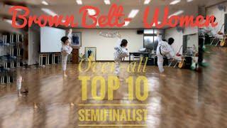 Overl all Top 10 -Brown Belt Women Semi Finalist