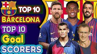 Barcelona Top 10 Goal Scorers of All Time History. ⚽ Lionel Messi Unbreakable Records in Barcelona.
