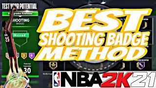 FASTEST SHOOTING BADGE METHOD NBA 2K21 NEXT GEN. GET YOUR SHOOTING BADGES IN 2 HOURS NO GLITCH.