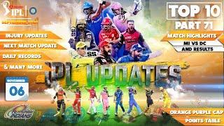 IPL 2020 Breaking News:Top 10 Updates of IPL in hindi| 06 November |PART 71|Eliminator |SRH vs RCB
