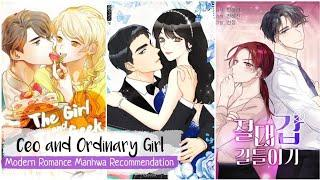 Top 10 Modern Romance Manhwa - Rich Guy Poor Girl | Office Romance