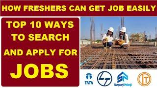 How Civil Engineers Can get Job Easily | Top 10 Ways to Search and Apply for Civil Engineering Jobs