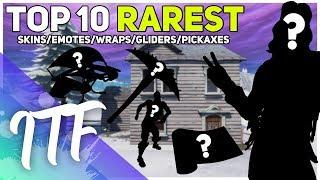 Top 10 RAREST Item Shop Items! (Skins, Pickaxes, Emotes, Wraps, Gliders) (Fortnite Battle Royale)