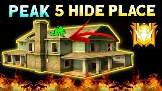 PEAK HIDDEN PLACE IN FREE FIRE ! TOP 5 HIDE PLACE IN BERMUDA MAP ! RANK PUSH TIPS ! GST