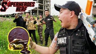 Superheroes Nerf: Duo Swat SEAL X Warriors Nerf Guns Fight Criminal Group Mr Crazy Black