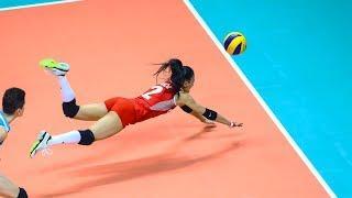 Simge Akoz | Amazing Volleyball Libero | Crazy Saves (HD)