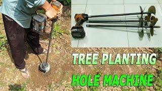 Build a Tree Planting Hole Machine with Cordless Impact Wrench