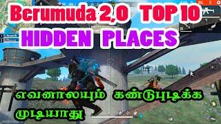 Top 10 Hidden Place in Free Fire New Map | Berumuda 2.0 Map tips and tricks | Free Fire tamil