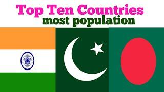 World Population top 10 country | top 10 most populated countries