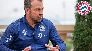 Hansi Flick: Positive Reflection on Training Camp in Doha & Injury Update on Gnabry and Hernandez