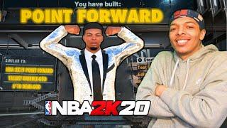 I created my 6'10 POINT FORWARD from 2k19 on nba 2k20! the 6'10 DEMIGOD returns! BEST BUILD 2K20