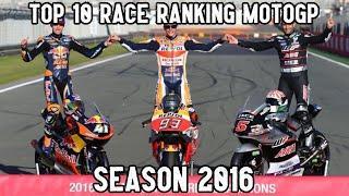 [2016] TOP 10 RACE RANKING HISTORY POINT MOTOGP