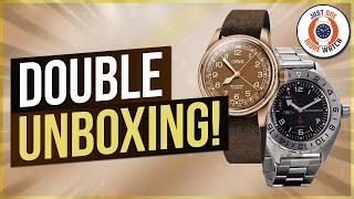 Double Unboxing! Vostok GMT + Oris Big Crown Double Bronze !
