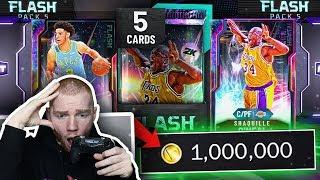 *GLITCHED* DEMIGOD SHAQ!! 1 MILLION VC FLASH 5 Pack Opening! (NBA 2K20 MyTeam)