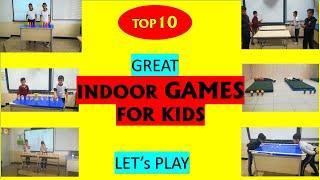 10 GREAT indoor GAMES - TOP 10 INDOOR GAMES FOR Kids - AT HOME Activities
