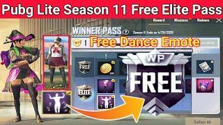 Get Free Season 11 Winner pass in Pubg mobile lite | Free AirDancer Emote, Free Fool Bagpack