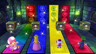 Mario Party 10 Series Maps Luigi vs Toadette vs Pech vs Toad (Haunted Trail) MARIO CRAZY
